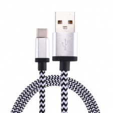 tuff-luv_woven_style_metal_head_usb_3_1_type-c_to_usb_2_0_data__charge_cable_1_m_-_silver